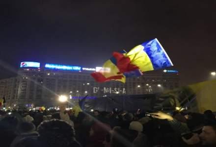Protest in Bucuresti, dupa ce PSD a anuntat schimbari majore in programul de guvernare