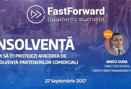 Iancu Guda, trainer la Fast Forward Business Summit. Vino sa inveti care este regula de aur a gestiunii financiare sanatoase: 70% dintre companiile care nu au respectat-o au intrat in insolventa