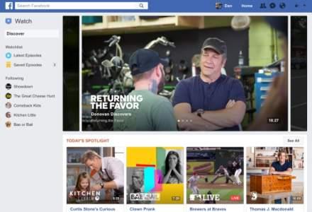 Facebook, gata de lansarea Watch, canal de seriale si show-uri
