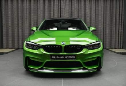 BMW M3 arata si mai bine cu accesorii M Performance si culoarea Java Green