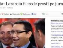 Ponta: Lazaroiu ii crede...