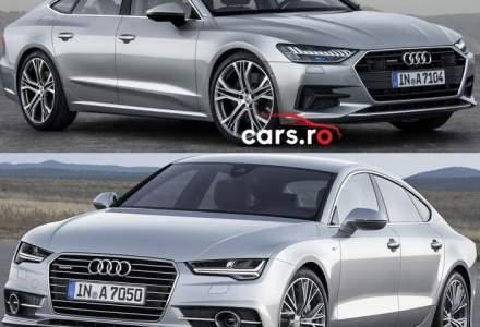 Comparatia saptamanii: Audi A7 Sportback - vechea vs noua generatie