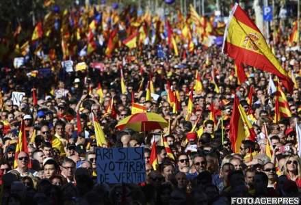 Un milion de persoane au manifestat la Barcelona pentru unitatea Spaniei