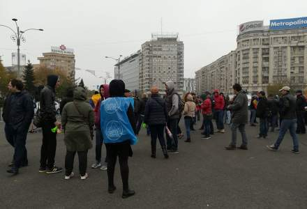 Protest impotriva Revolutiei Fiscale, chiar in timpul sedintei de Guvern