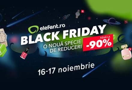 Black Friday la Elefant.ro: 5 ceasuri reduse cu pana la 90%