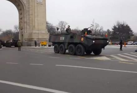 Antrenament general la Arcul de Triumf pentru parada militara de 1 Decembrie