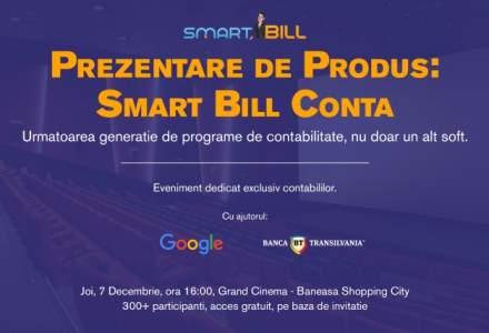 Promo: Smart Bill invita contabilii la prezentarea produsului Smart Bill Conta