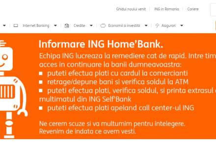 Probleme in Home'Bank, serviciul de Internet Banking al ING Bank. Ce pot face clientii