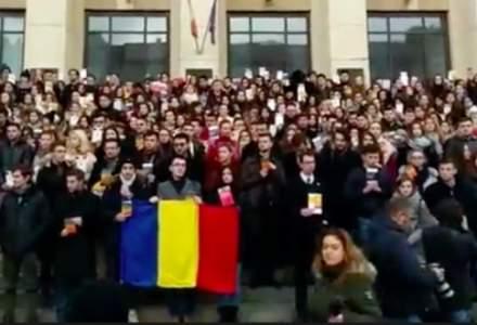 Protest mut al studentilor la Drept