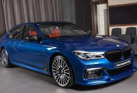 Asa trebuie sa arate un BMW 750Li pe gusturile noastre. Iata opera de arta in culoarea Avus Blue