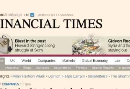 Financial Times inregistreaza cea mai mica crestere pe online de la lansarea iPad