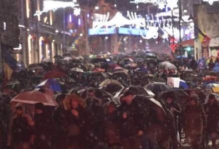 Protest in Piata Victoriei impotriva ministrul Justitiei si pentru sustinerea DNA