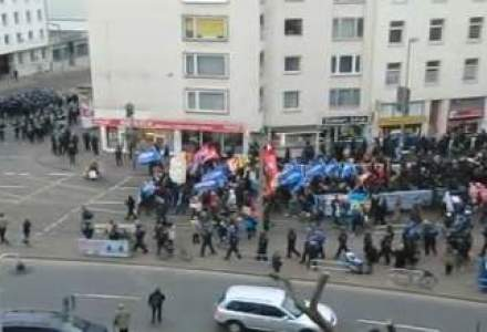 Manifestatii violente impotriva BCE la Frankfurt