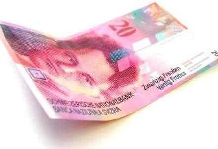 Francul elvetian, prima data peste pragul stabilit de banca Elvetiei