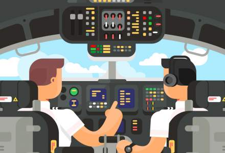 Creste interesul pentru industria aviatica: cati piloti are Romania si care sunt cele mai mari salarii din domeniu