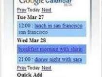 Calendarul Google, acum si pe...