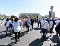 Angajatii din CFR protesteaza...