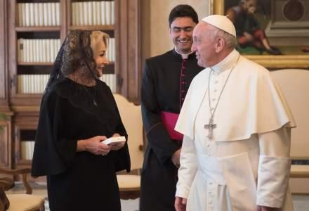 Video. Viorica Dancila, in vizita la Vatican. Ce mesaj i-a transmis Papa Francisc