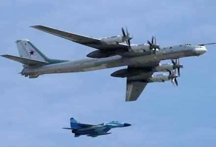 Avioane de lupta americane au interceptat bombardiere rusesti in spatiul aerian international din largul coastelor Alaska
