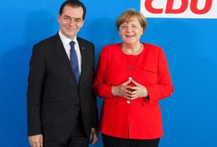Ludovic Orban s-a intalnit cu Angela Merkel. Printre subiecte, respectarea statului de drept in Romania