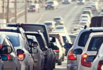 Trafic ingreunat pe DN1, intre Frasinet si Comarnic; numar mare de autovehicule spre statiunile de pe Valea Prahovei
