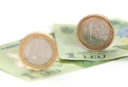 Cursul BNR a urcat, joi, la un nou maxim istoric, de 4,6695 lei/euro din cauza tensiunilor politice