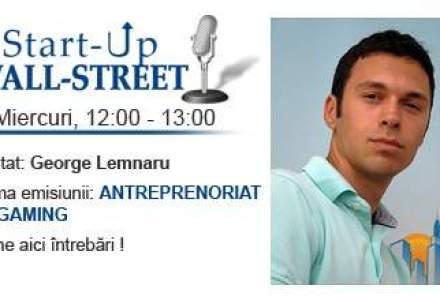 A lansat primul business la 21 de ani: George Lemnaru, un tanar din noul val de antreprenori, vine la Start-Up Wall-Street