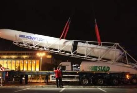 Racheta orbitala Haas 2C a fost expusa in Piata Victoriei