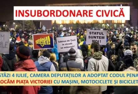 "Protest ""Insubordonare civica"" anuntat in seara aceasta"