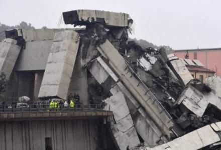 UPDATE Doi romani au murit in urma prabusirii unei portiuni din viaductul autostrazii A10, in Italia. Bilantul a crescut la 35 de morti