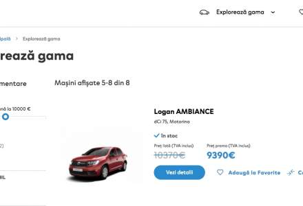 Dacia lanseaza o platforma online pentru vanzarea modelelor din stoc