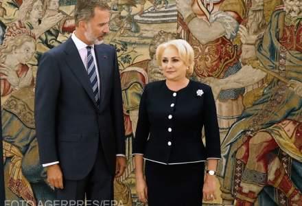 Viorica Dancila s-a intalnit cu Regele Felipe al VI-lea. Romanii din Spania, pe agenda de discutii