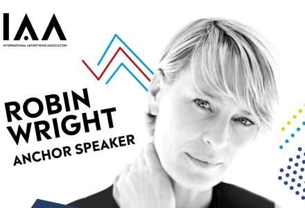 Robin Wright, anchor speaker la conferinta globala IAA Creativity 4 Better, ce va avea loc in Bucuresti
