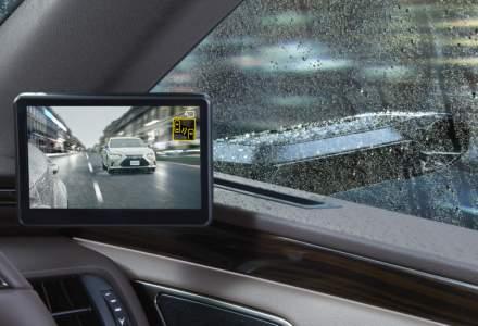 Lexus ES este primul model fabricat in serie care inlocuieste oglinzile laterale cu camere video