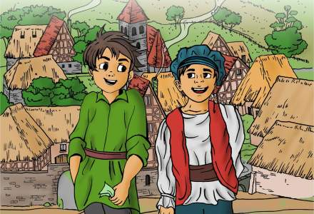 """Maruntila si Bancnotila"", educatie financiara pentru copii prin povesti si imagini colorate"
