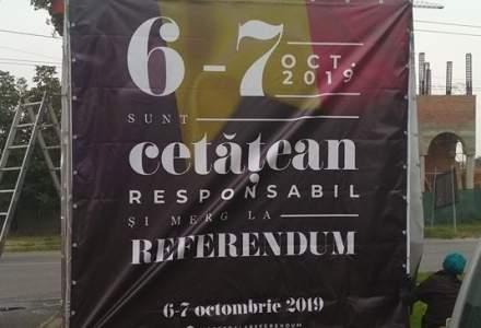 Un panou din Timisoara anunta referendumul pentru redefinirea familiei in 2019