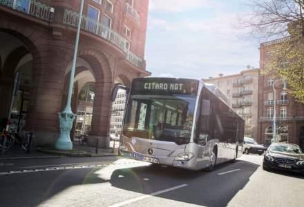Mercedes-Benz a testat Citaro NGT, autobuz propulsat cu motor pe gaz natural comprimat, pe rutele de transport in comun din Bucuresti