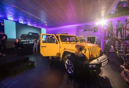Noul Jeep Wrangler a fost prezentat in Romania, la inaugurarea unui nou showroom pentru brandurile Jeep, Alfa Romeo, Fiat si Abarth
