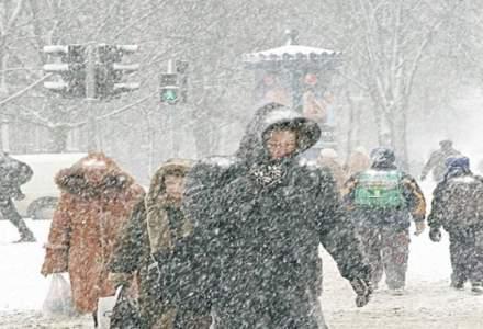 Cod galben de ninsori, lapovita, ploi si intensificari ale vantului pentru trei sferturi din tara
