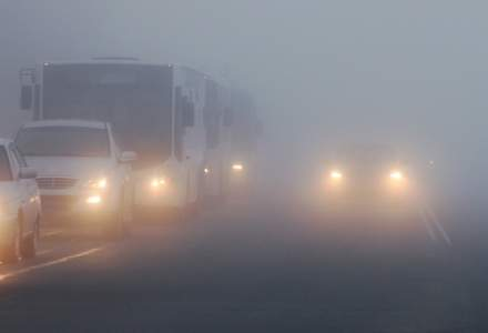 ANM: Cod galben de ceata in judete din Transilvania, Moldova si Muntenia, sambata dimineata