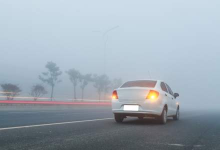 ANM: Mai mult de jumatate din tara se afla sub Cod galben de ceata si vizibilitate redusa