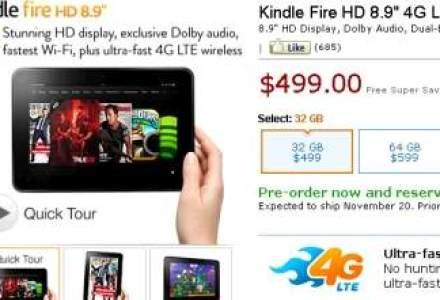 Amazon a prezentat noua serie de e-readere si tablete Kindle, cu preturi de 69-599 dolari