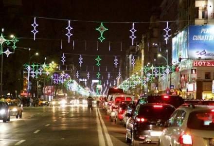 Iluminatul festiv al Capitalei, aprins vineri seara: 9 milioane de beculete si elemente decorative unicat