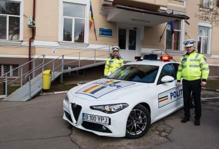Politia Rutiera Ilfov a primit un autoturism Alfa Romeo Giulia pentru 1 an