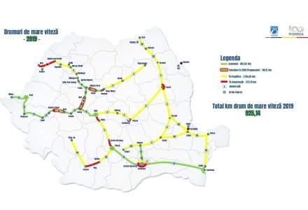 CNAIR: Circulatia rutiera va fi deschisa pe 1.000 de kilometri de autostrada in 2020, iar in 2022 va ajunge la aproape 1.400