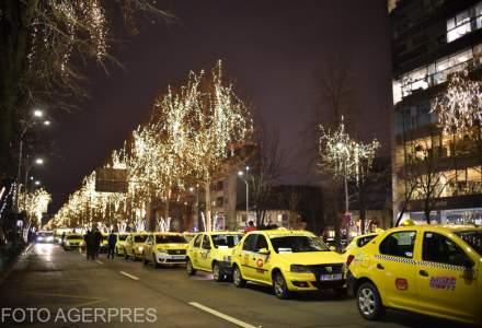 Politia Capitalei s-a sesizat din oficiu in legatura cu blocarea Bulevardului Lascar Catargiu de catre taximetristi
