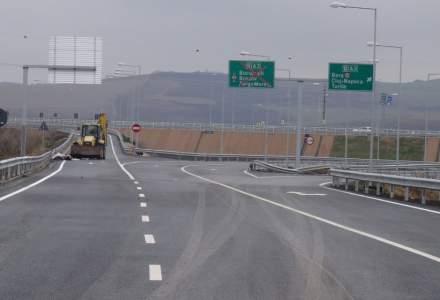 Doua sectoare de autostrada si un alt sector de drum national, inchise din cauza poleiului