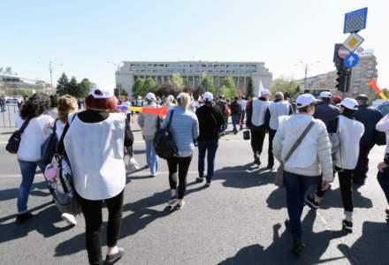 Protest al sindicalistilor din politie si penitenciare. Ce revendicari au