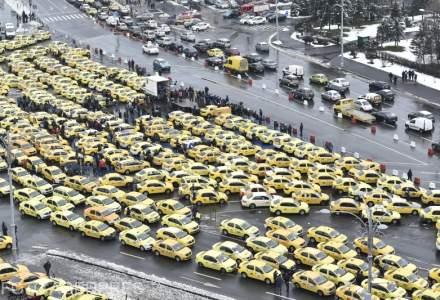 """UPDATE Peste 1.600 de taximetristi protesteaza fata de """"ilegalitatile"""" practicate de platformele de tip Uber"""