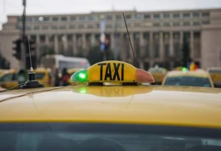 UPDATE Transportatorii au blocat Piata Victoriei, cerand reglementarea aplicatiilor de tip car-sharing